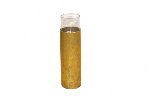 Bodenwindlicht Höhe 51 cm Antik-Gold Kerzenhalter Windlicht Kerzenständer