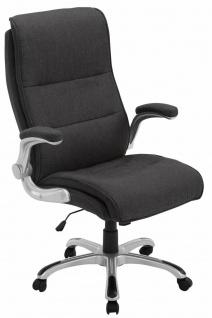 XXL Bürostuhl Stoff dunkelgrau Drehstuhl Computerstuhl Schreibtischstuhl stabil