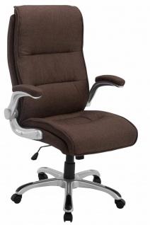 XL Chefsessel 150kg belastbar braun Stoffbezug Bürostuhl robust stabil Drehstuhl