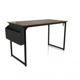 Schreibtisch Industrial design 120x60 Schwarz Walnuss Computertisch Arbeitstisch