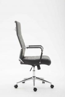 Bürostuhl 136 kg belastbar schwarz Kunstleder Chefsessel modern design stabil - Vorschau 3