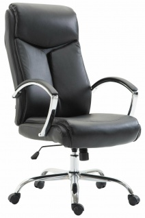 XL Bürostuhl 140 belastbar Kunstleder schwarz Chefsessel Drehstuhl Computerstuhl