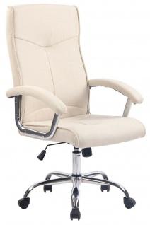Bürostuhl creme Stoffbezug Chefsessel Schreibtischstuhl modern design robust