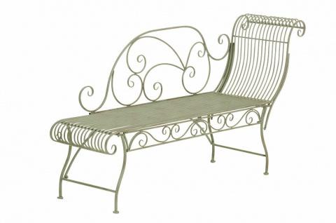 Gartenbank grün Eisen Sitzbank Gartenliege romantisch antik Nostalgie Vintage
