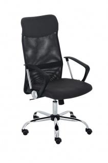 XL Bürostuhl bis 140 kg belastbar schwarz Netzbezug Chefsessel modern design