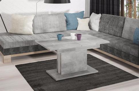 hochwertiger Couchtisch Beton Wohnzimmertisch Sofatisch design modern ausziehbar