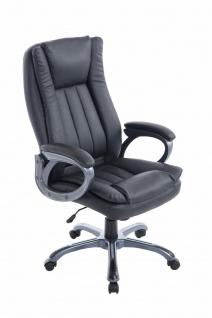 Chefsessel Kunstleder schwarz Drehstuhl Computerstuhl XL Schreibtischstuhl NEU