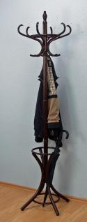 Garderobenständer kolonial massivholz mit Schirmständer Kleiderständer Garderobe