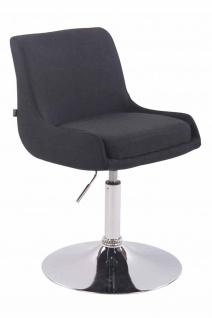 2 x Esszimmerstühle schwarz Stoffbezug Stuhlset Küche drehbar modern design