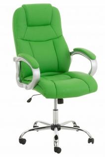 XXL Chefsessel 150 kg belastbar Kunstleder grün Bürostuhl große schwere Personen
