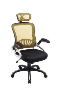 Bürostuhl gelb Netzbezug 120 kg belastbar Drehstuhl hochwertig stabil modern