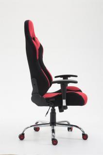 XL Bürostuhl 136 kg belastbar Stoff schwarz rot Chefsessel Gamer Zocker robust - Vorschau 2