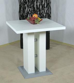 Säulentisch weiß melamin Esstisch Esszimmertisch Tisch Küchentisch Esszimmer neu