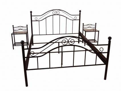 Metallbett schwarz 180x200 cm romantisch Ehebett Doppelbett antik preiswert neu