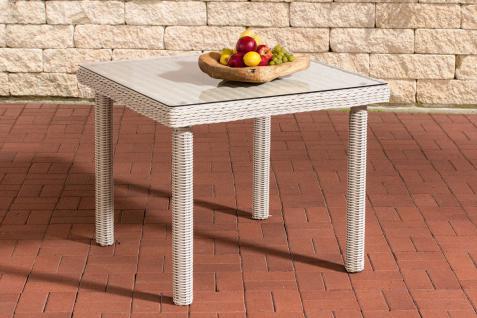 Gartentisch Wei Cm Klarglas Tisch Glas Rattantisch Garten With Gartentisch  With Gartentisch 80 Cm Breit