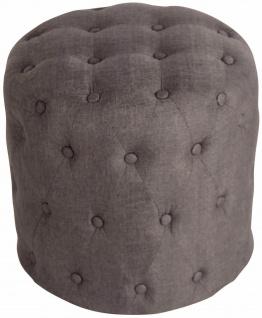 Sitzhocker Stoff dunkelgrau Polsterhocker Stauraum Fußhocker rund modern design