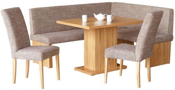 moderne Eckbankgruppe Kernbuche/Cappuccino Tischgruppe Essgruppe Essecke design