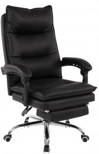 Bürostuhl 136 kg belastbar schwarz Kunstleder Chefsessel Drehstuhl stabil robust