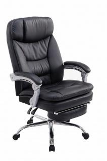 XL Bürostuhl 160 kg belastbar schwarz Fußablage Chefsessel für schwere Personen
