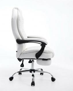 Bürostuhl 120 kg belastbar weiß Kunstleder Chefsessel Computerstuhl Drehstuhl - Vorschau 3