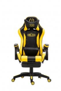 XL Bürostuhl schwarz/gelbDrehstuhl Chefsessel Computerstuhl Schreibtischstuhl