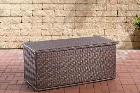 Rattan Auflagenbox 125 cm braun Gartenbox Kissenbox Gartentruhe Aufbewahrungsbox