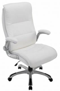 XL Chefsessel 150 kg belastbar weiß Kunstleder Bürostuhl große schwere Personen