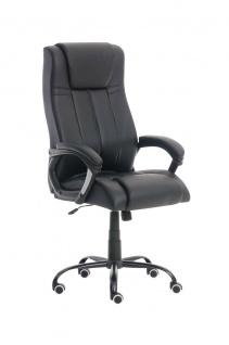 Bürostuhl schwarz 150 kg belastbar Chefsessel Kunstleder Drehstuhl stabil robust
