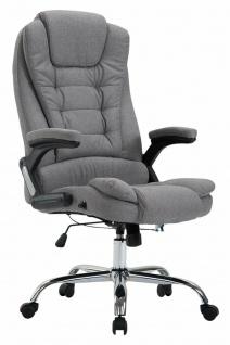 XL Bürostuhl 150kg belastbar grau Stoffbezug Chefsessel Drehstuhl Computerstuhl