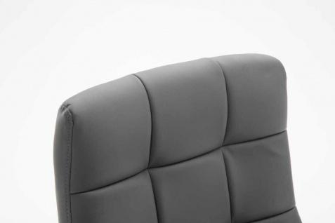 Bürostuhl bis 120 kg belastbar grau Kunstleder Chefsessel hochwertig klassisch - Vorschau 5