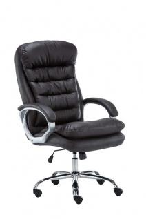 XXL Bürostuhl bis 235 kg belastbar braun Chefsessel Kunstleder schwere Personen