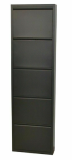 Metall-Schuhschrank anthrazit 5 Klappen Schuhkipper Schuhregal modern design NEU