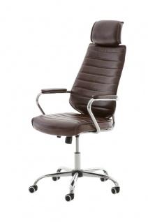 Bürostuhl 120 kg belastbar Kunstleder bordeauxrot Chefsessel Drehstuhl modern