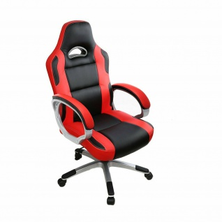 Racing Bürostuhl rot/schwarz 150kg belastbar Chefsessel Drehstuhl stabil robust