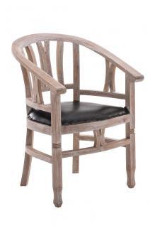 Holzstuhl rustic wash Sitzpolster Kolonial Sessel Küche Esszimmer Landhaus antik