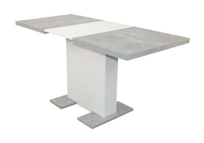 Auszugtisch 100-150 cm Betonoptik grau/weiß Esstisch Esszimmertisch ausziehbar