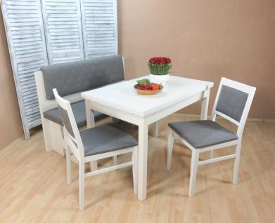 Essgruppe weiß graphit Dinninggruppe Tischgruppe 2 x Stühle Esstisch modern