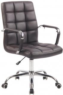 Bürostuhl 120 kg belastbar braun Drehstuhl Arbeitshocker modern design stabil