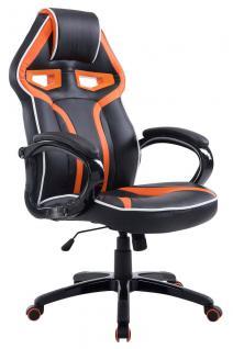 XL Bürostuhl 150 kg belastbar schwarz orange Chefsessel modern design hochwertig