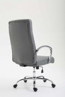 XL Bürostuhl bis 136 kg belastbar Kunstleder grau Chefsessel hochwertig design - Vorschau 4