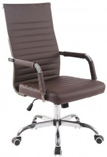 moderner Bürostuhl 120 kg belastbar Kunstleder braun Drehstuhl Chefsessel stabil