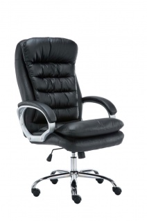 XXL Bürostuhl bis 235kg belastbar schwarz Chefsessel Kunstleder schwere Personen