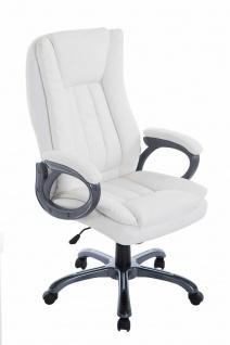 XL Bürostuhl 150 kg belastbar weiß Chefsessel große schwere Personen stabil