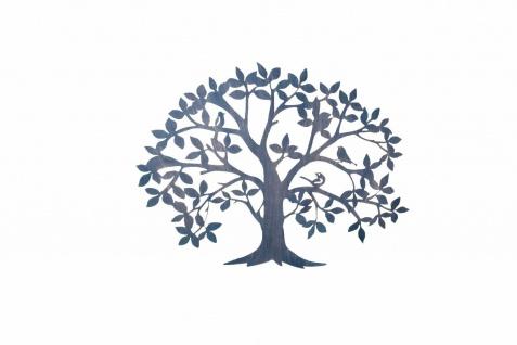 Wanddekoration Baum Wanddeko Deko Massivholz Metall braun design modern Tree