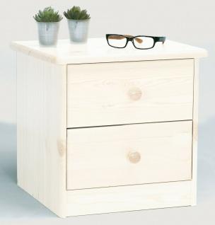 Nachttisch Kiefer massivholz weiß Schubladen Nachtkommode Nachtkonsole Kommode