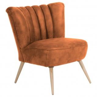 Retro Sessel Wildlederoptik Wohnzimmersessel Lounge Einzelsessel Vintage design