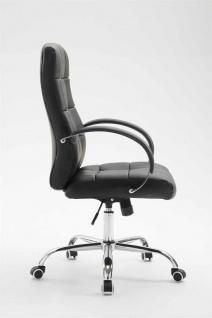Bürostuhl 120 kg belastbar Kunstleder schwarz Chefsessel hochwertig klassisch - Vorschau 3