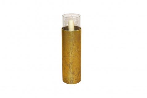 Bodenwindlicht Höhe 81 cm Antik-Gold Kerzenhalter Windlicht Kerzenständer