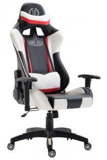 XL Bürostuhl schwarz weiß Kunstleder Bürostuhl modern design hochwertig Gamer