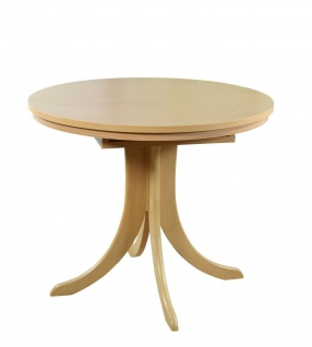 Auszugtisch rund Buche natur massiv Esstisch Esszimmertisch Tisch Küchentisch - Vorschau 3